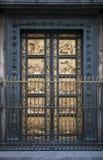 洗礼池详细资料门佛罗伦萨 免版税库存图片
