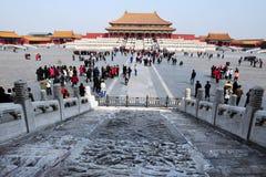 紫禁城在北京中国 免版税图库摄影