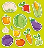 贴纸蔬菜 免版税图库摄影