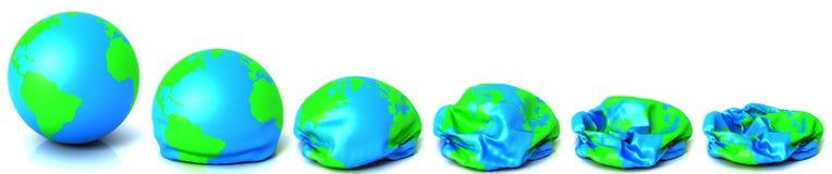 紧缩通货的地球 库存图片