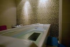 浴缸hydromassage 免版税库存照片