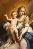 维罗纳-圣洁玛丽详细资料从Maffei教堂的在中央寺院 库存图片