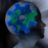 头脑世界 免版税库存照片