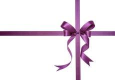 紫色丝带 图库摄影
