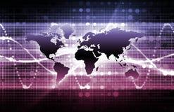 紫色企业的媒体 免版税库存照片