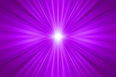 紫色光芒 免版税库存照片