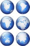 水色地球 库存图片