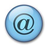 水色按钮万维网 免版税库存图片