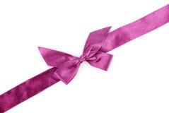 紫色节假日丝带 库存照片