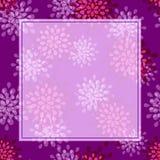 紫色花贺卡 免版税库存图片