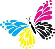 蝴蝶徽标 免版税库存照片
