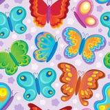 蝴蝶无缝的背景 免版税库存图片