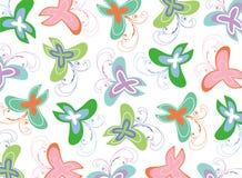 蝴蝶柔和的淡色彩漩涡 免版税库存照片