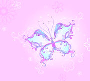 蝴蝶粉红色 免版税图库摄影