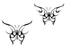 蝴蝶纹身花刺 库存照片