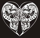 蝴蝶装饰物剪影 免版税图库摄影