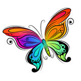 蝴蝶设计向量 免版税库存图片