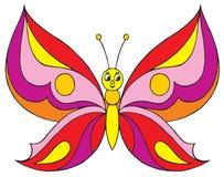 蝴蝶(向量夹子艺术) 图库摄影