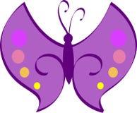 蝴蝶紫色 免版税库存图片