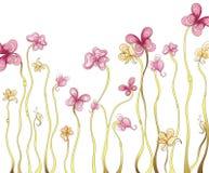 蝴蝶florals形状 免版税库存照片