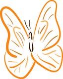 蝴蝶lineart桔子 库存图片