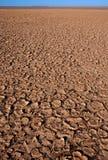 破裂的土干燥表面 免版税库存图片