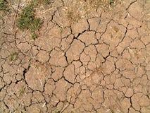 破裂的泥 免版税图库摄影