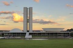 巴西利亚国会 库存照片