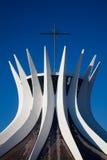 巴西利亚大教堂 免版税图库摄影