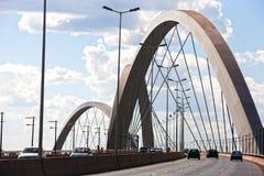 巴西利亚巴西桥梁juscelino kubitschek 免版税库存图片