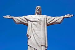 巴西基督・ de janeiro救世主里约雕象 免版税图库摄影