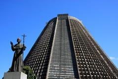 巴西大教堂里约圣徒塞巴斯蒂安 库存照片