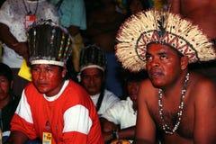巴西的当地印地安人 库存图片