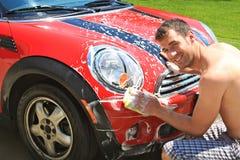 洗车 免版税库存照片