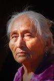 年长那瓦伙族人妇女 免版税图库摄影