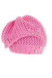 贝雷帽粉红色 库存图片