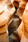 暴露性的槽峡谷 免版税库存图片