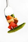 素食煮沸的食物的蔬菜 免版税库存图片