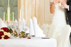 宴餐表婚礼 库存照片