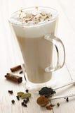 柴饮料latte 免版税图库摄影