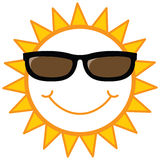 兴高采烈的星期日太阳镜 库存图片