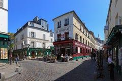 巴黎人的咖啡馆 库存照片