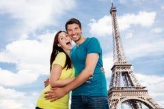 巴黎夫妇 库存照片