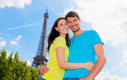 巴黎夫妇 库存图片