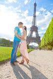巴黎夫妇 免版税库存照片