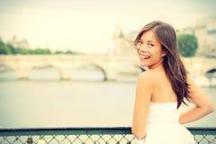 巴黎妇女 免版税库存照片