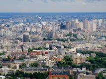 巴黎市空中全景俯视图 免版税库存图片