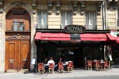 巴黎餐馆 免版税库存图片