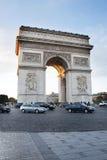 巴黎,凯旋门 库存照片