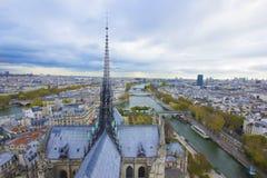 巴黎,法国,全景鸟瞰图 免版税图库摄影